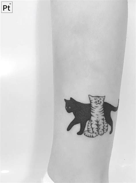 cats pointillism tattoo pinteres