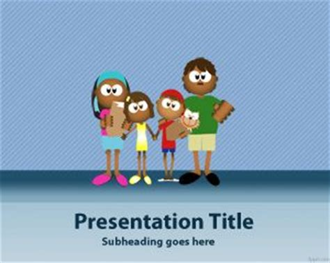 free family powerpoint templates family four powerpoint template