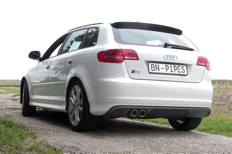 Audi A3 8p Sportauspuff by Bn Pipes Sportauspuffanlage F 252 R Audi S3 8p Bn Pipes