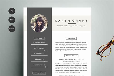 resume cover design resume template 4 pack cv template resume templates