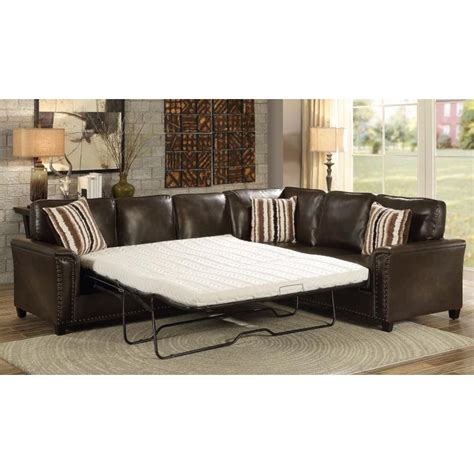 pull out sleeper sofa sectional sofa with pull out sleeper gus brown