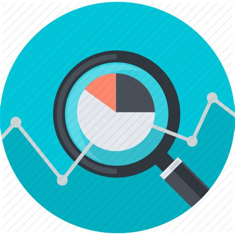icon design research analysis business chart flat design research round