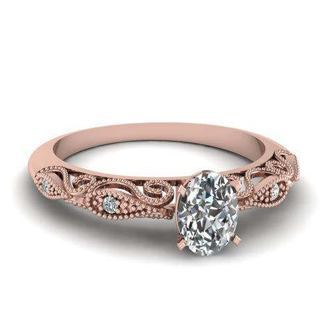 oval shaped paisley diamond ring   rose gold