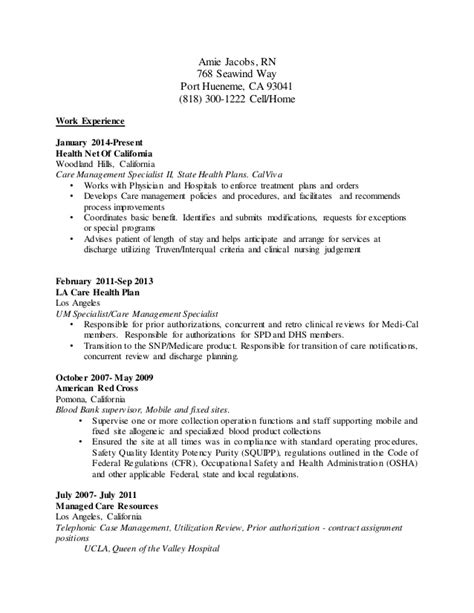 Utilization Review Sle Resume by Utilization Review Resume Resume Ideas