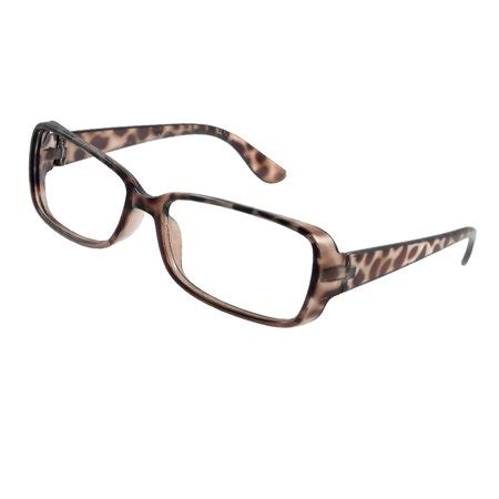 Print Glasses leopard prints rectangle shaped brown spectacles