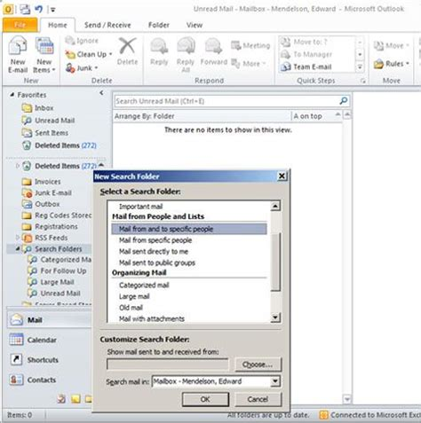 New Search Create A New Search Folder 8 Essential Microsoft Outlook 2010 Tips For Intermediate