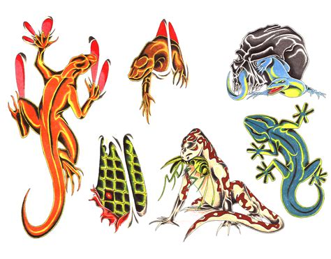 lizard tattoo design lizard tattoos