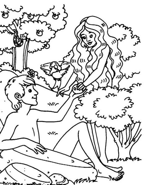 coloring page adam and eve sin 11 images of garden of eden coloring page to color adam