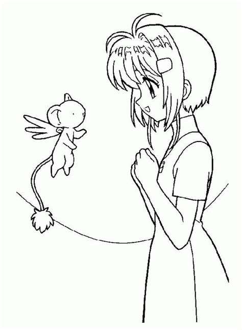 Cardcaptor Coloring Pages by Card Captor Coloring Page Coloring Home