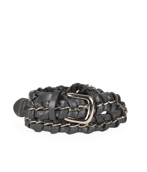 vinenzia gray leather belt buy at low price