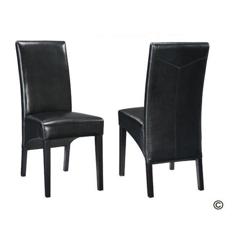 chaise cuir noir salle manger chaise de salle a manger en cuir noir