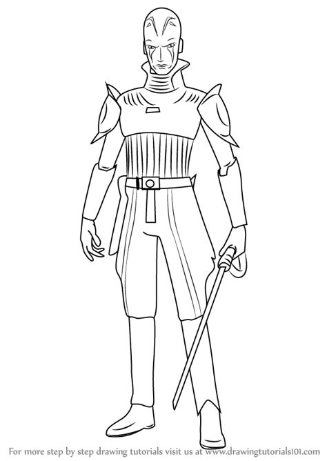 rebels ezra coloring pages learn how to draw the grand inquisitor from wars