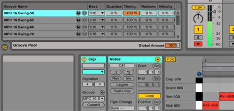 ableton swing tips for the production of electronic music daw drum