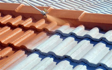 spray painting roof tiles painting roofing repairs concrete decra metal