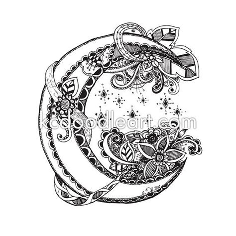 coloring pages for adults moon instant download adult coloring page half moon doodle