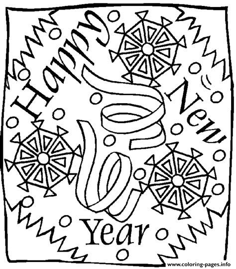 new year colouring posters new year 2 coloring pages printable