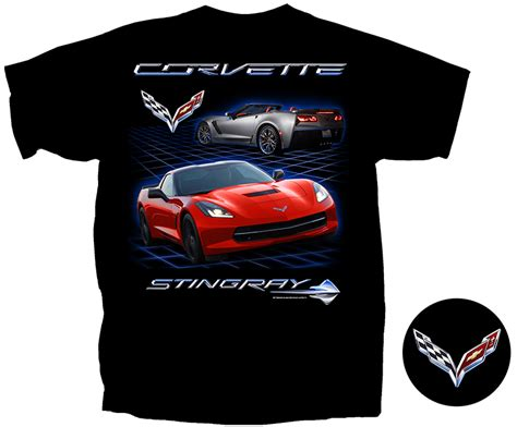 c7 corvette apparel c7 corvette black t shirt chevymall