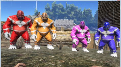 power rangers ark paint the best paint ark warpaint ark survival evolved skins paints warpaints