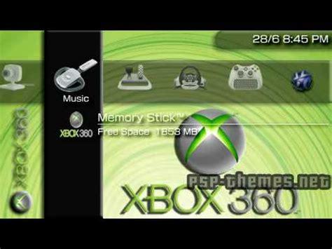 psp emulator themes psp theme xbox 360 theme 1 psp themes net youtube