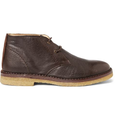 apc mens boots a p c leather desert boots in brown for desert lyst