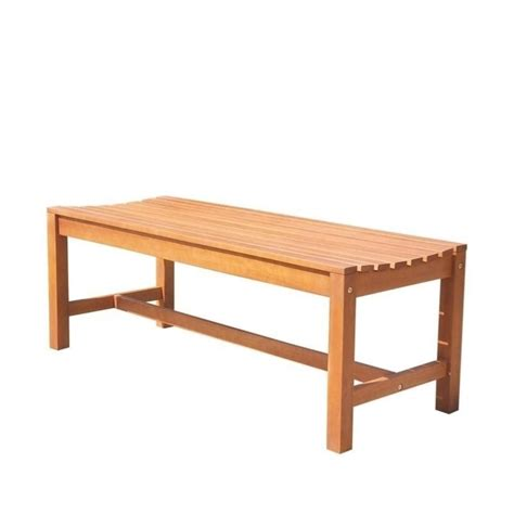 backless garden benches backless outdoor bench in natural v1640