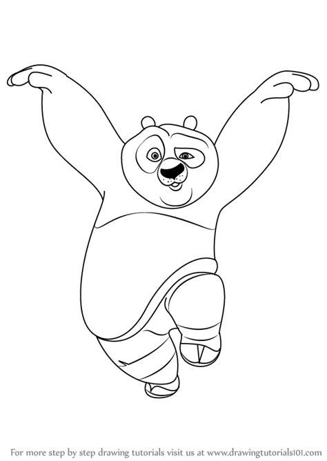 Kaos 3d Kungfu Panda White learn how to draw po panda from kung fu panda kung