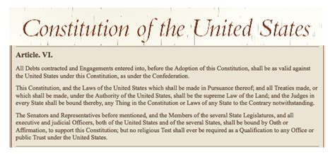 article 6 section 2 of the constitution honoring the treaty a visit to congressman rick larsen s
