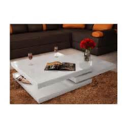 superbe table basse blanc laqu 233 carr 233 e pivotante 3