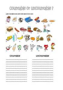 esl countable and uncountable nouns worksheets images