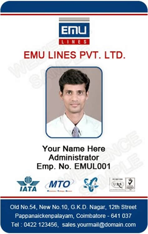 template galleries employee id card templates 140310