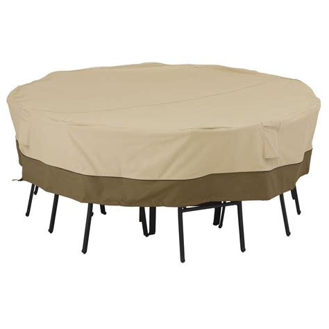 Classic Accessories Veranda Large Square Patio Table And Large Patio Table Cover