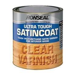 Ronseal ultra tough interior varnish clear satin 2 5l