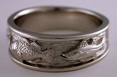 fish wedding bands