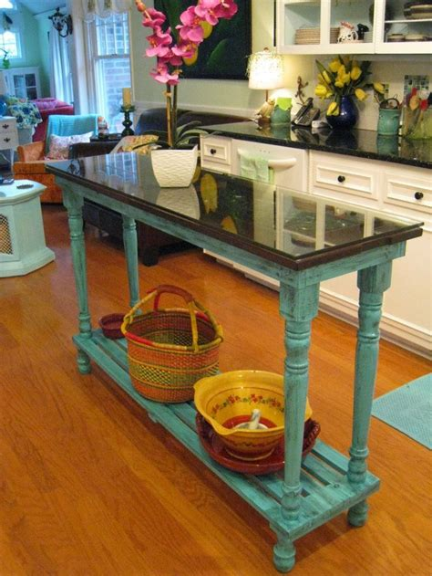 narrow kitchen island table repurposed for life turquoise piano island diy home