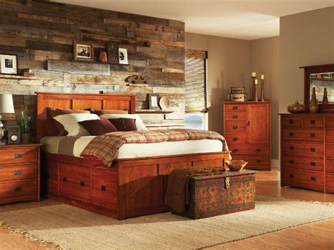 Amish Furniture Rochester Mn by American Mission Ii Pedestal Bed Hom Furniture