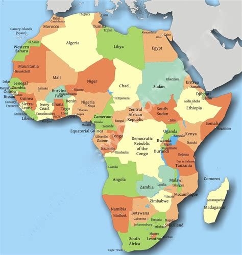 africa map of countries opinions on countries