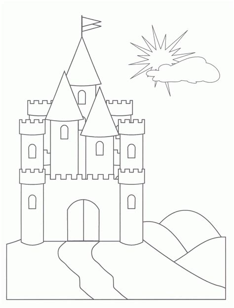princess house coloring pages free printable castle coloring pages for
