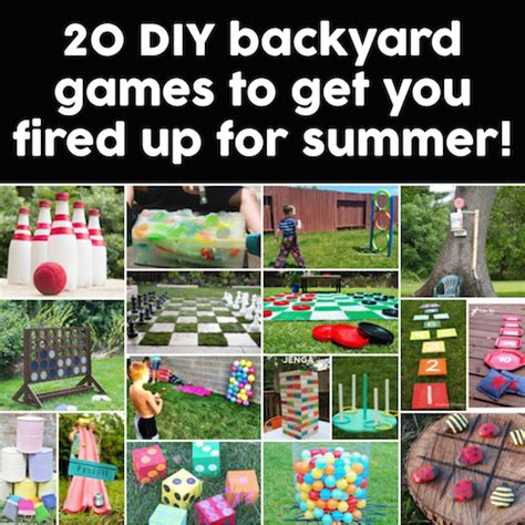 list of backyard games things for kids to do this summer