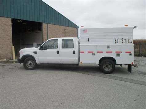 2008 FORD F 350 CREW CAB TRUCK W/ENCLOSED 5 FOOT HIGH