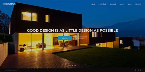 theme wordpress architecture bauhaus architecture portfolio wordpress theme by