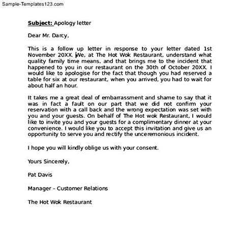 Sle Apology Letter To The Client Apology Letter To Client For Delay Sle Templates
