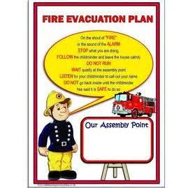 fire evacuation point poster fire drill pinterest