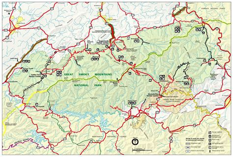 smoky mountains map directions maps great smoky mountains