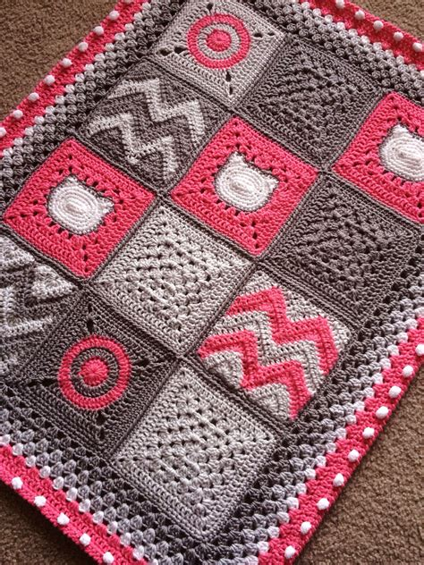 Patchwork Blanket Pattern - celtic lace join babylove brand