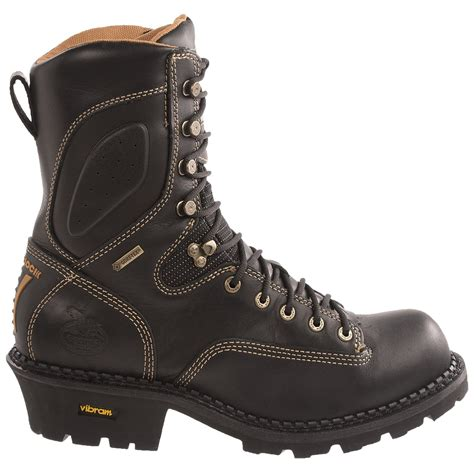 comfortable work boots for men georgia boot gore tex 174 comfort core logger work boots for