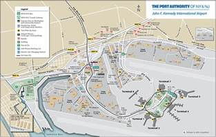 map of kenedy map jfk airport air cargo port authority of new york