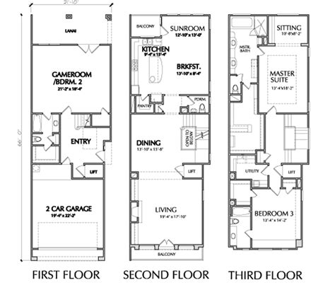 luxury townhome floor plans