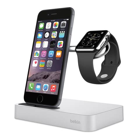 Stand Charger Smartphone Charging Dock Premium Apple belkin charge dock offers simultaneous charging for iphone