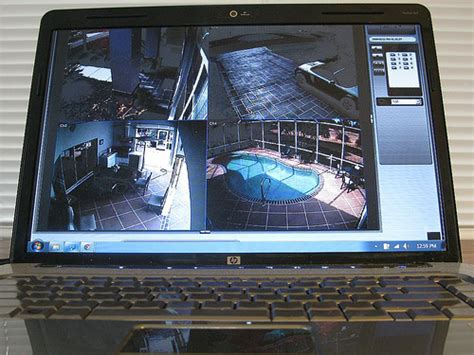 laptop used for home security monitoring flickr
