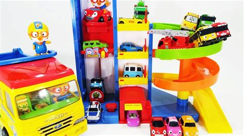 Robocar Poli Car Park tayo the pororo parking tower robocar poli car